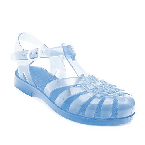 Sandalias de Goma Unisex para Mujeres, Hombres y niños - Sandalias de plástico para Piscina y Playa - AM188 - Transparente - EU 44