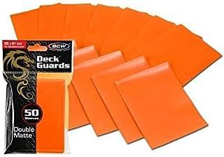 300 Premium Orange Double Matte Deck Guard Sleeve Protectors for Gaming Cards like Magic The Gathering MTG, Pokemon, YU-G...