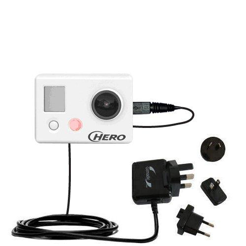 10W Caricabatterie domestico da muro AC internazionale compatibile con GoPro HERO / HD / HERO2 con la tecnologia TipExchange