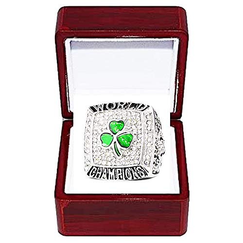 WANZIJING Campionato Anelli per Gli Uomini, Boston Celtics NBA Finals 2008 Champions Anello di Replica per i Fan Gift Collection Display Keepsake,with Box