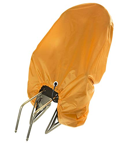 Housse de Pluie pour siège Enfant vélo avec œillet de sécurité Siège Enfant Bicyclette Protection pour siège Enfant de vélo Orange [104]