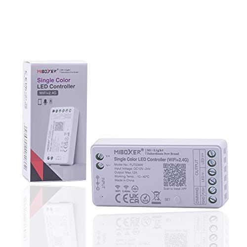 Kingled - Mi Light MiBoxer FUT036W - Mini Ricevitore Wi-Fi + RF + PUSH per Strip Led Monocolore - Compatibile con Alexa, Google, Smartphone