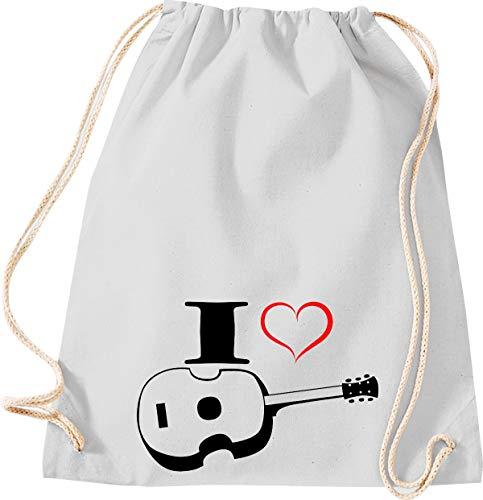 Camiseta stown Turn Bolsa Estimada I Love Ukelele, gris claro
