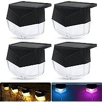 4-Pack Otisify Solar Deck Lights Led Waterproof Solar Step Lights