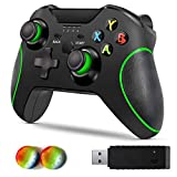 Wireless Controller for Xbox One, Byforphye 2.4GHZ Gamepad Joystick with Dual-Vibration with Receiver for PS3 /One Elite/Xbox One/One S/One X/PC Windows 10