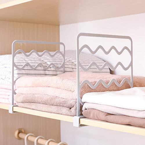 Trihedral-X 4 stks Shelf Closet Draad Plank Divider Ruimtebesparende Garderobe Organizer Kleding Opslag Rack Lade Organizer Slaapkamer Kast Rack