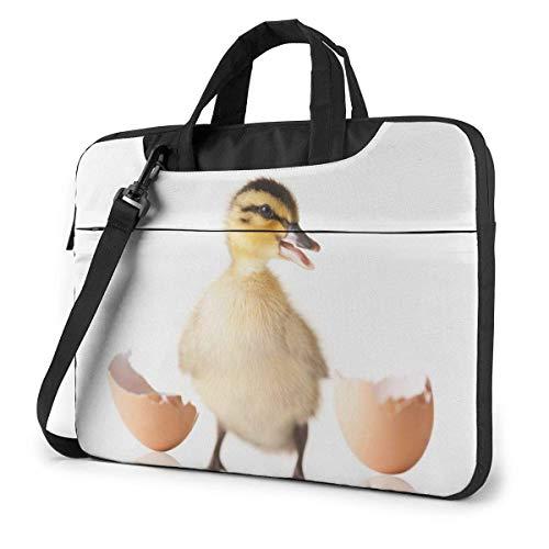 Laptop Umhängetasche Tragen Laptop-Tasche 14 Zoll, Baby Birds Ducks Born Computer-Hülle Abdeckung mit Griff, Aktentasche Schutz-Tasche