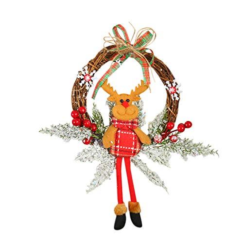61uourGE Christmas Tree Wreath Door Hanging Garland Window Wall Ornament Christmas Party Decora