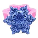Schneeflocke Design Silikon Seife Formen 3D Silikon Form Dekorieren Schokolade Zucker Candle Craft...
