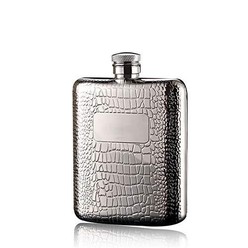 Portable Heupfles 18/8 Arcuate Pockets 304 Voedsel Grade roestvrij stalen bekerglas met een trechtervormige flessen sterke drank Whisky rum en wodka Alle |6 Oz |Gift Boxed Uitstekend Gevoel en Textuur