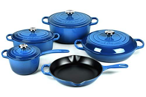 Le Creuset 9-piece Signature Cast Iron Cookware Set...