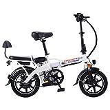 GJJSZ Vélo électrique Pliant avec Batterie au Lithium-ION Amovible de 48 V 10 Ah,vélo électrique...