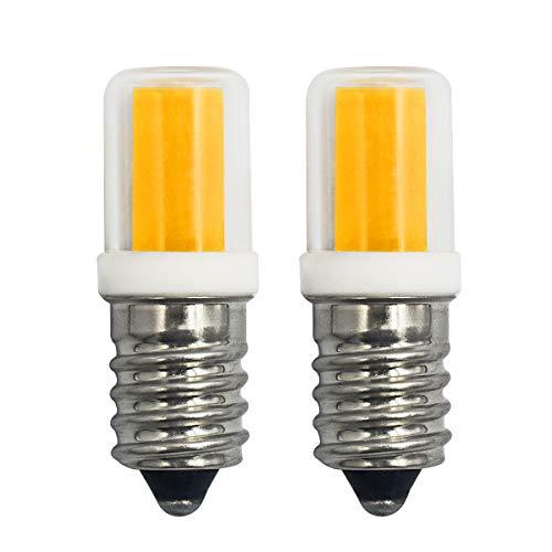 E14 LED Glühbirnen 2W 25W Entspricht T16 klar Glühbirnen Dimmbar Warmweiß 2700K Kleine Edison-Schraube Salz-Lampe für Nachtlicht, Herd-Hoods Bulbs, Deckenventilator, Tischlampen(2er-Pack)[MEHRWEG]