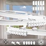 Xnuoyo Binario Per Tenda, Soffitto Pieghevole Supporto Per Tenda Tenda Da Soffitto Flessibile Binario Per Finestre A L/u A Forma Tende Divisori Per L'ufficio Del Bagno Della Finestra Della (3M)