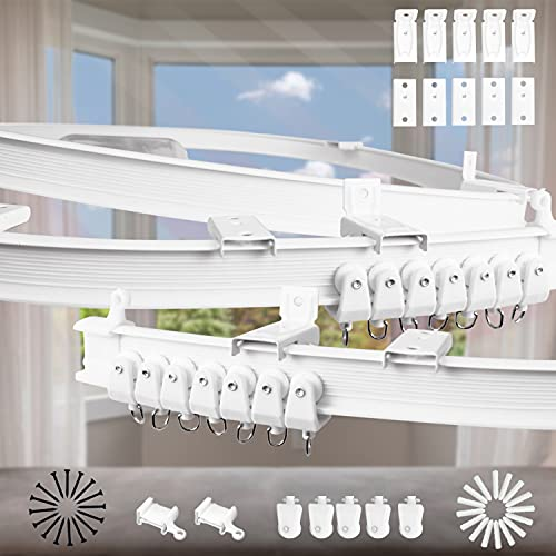Xnuoyo 2 Metros Flexible Riel Cortina, Montaje En Techo Para Riel De Cortina Con Sistema De Cortina,pista De Cortina De Rv,para Cortinas,separador De Ambientes