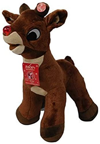 2013 Rudolph the rot Nosed Reindeer 15 Singing & Light Up Nose Xmas Plush Doll NWT by Dan Dee