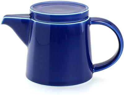 白山陶器 M型ポット ブルー (約)φ10×10.5cm 400ml M型シリーズ 波佐見焼 日本製