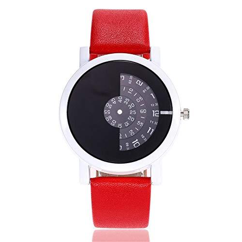ZSDGY Reloj de Cuarzo para Mujer, Reloj de Estudiante de Moda Creativa con dial de Personalidad B