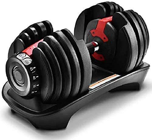 LAOLIU Pesas ajustables Mancuernas 24kg hombres mujeres fitness automático 15 engranajes 1S pesos rápidos inteligente resistente al desgaste mancuernas estables de seguridad (rojo)