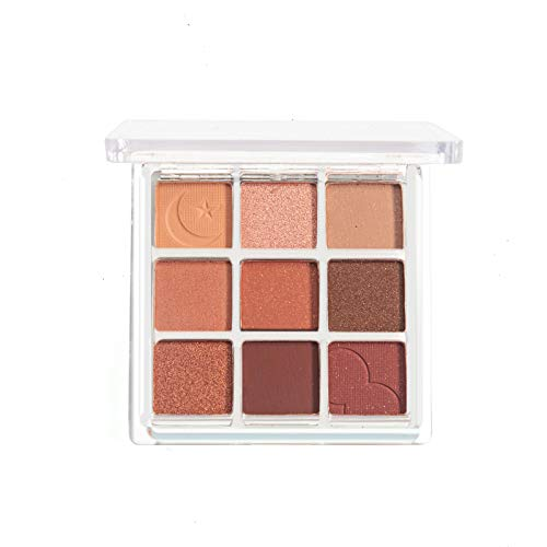 With Memories-Eyeshadow Palette Makeup - Matte Shimmer 9 Colors - Highly Pigmented - Professional Nudes Warm Natural Bronze Neutral Smoky Waterproof Cosmetic Eye Shadows (Overtake)