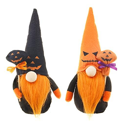 BULABULA Halloween Gnomes Plush Elf 1/2 pcs Festival Themed Faceless Dwarf Pumpkin Stuffed Housewarming Doll Decor for Party Car