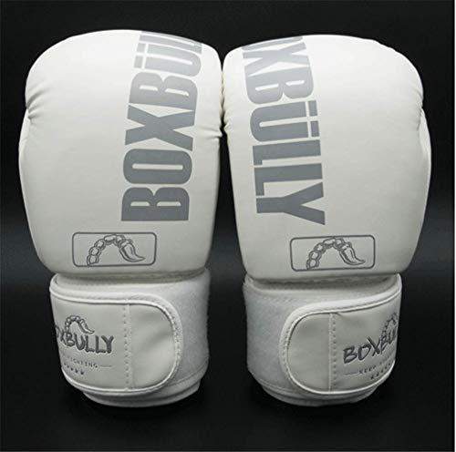 Professionelle Boxhandschuhe Kind Männer und Frauen Fitness Kampftrainingsspiel Kämpfen Gym Praxis Handschuhe Verein Boxing Supplies Spiel Handschuhe,Weiß,8oz