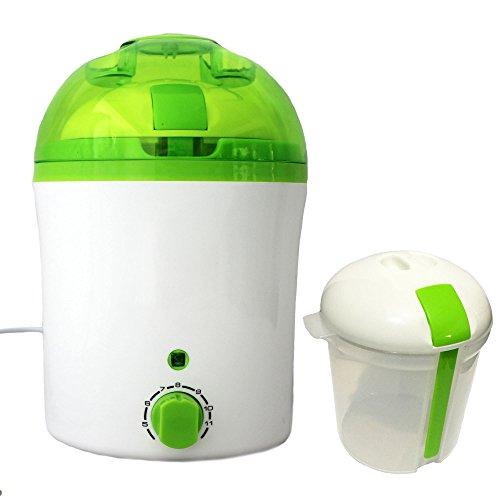 IQ-Vitality Joghurtbereiter, Joghurtmaschine mit akustischer Timerfunktion, inkl. 2. Innenbehälter