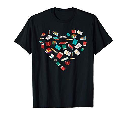 Bibliófilos Regalo Día De San Valentín Libros Corazón Leer Camiseta