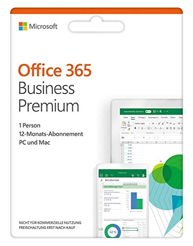 Microsoft Office 365 Business Premium 1Licence(S) 1Année(S) Allemand - Logiciels Office (1 Année(S), Allemand)