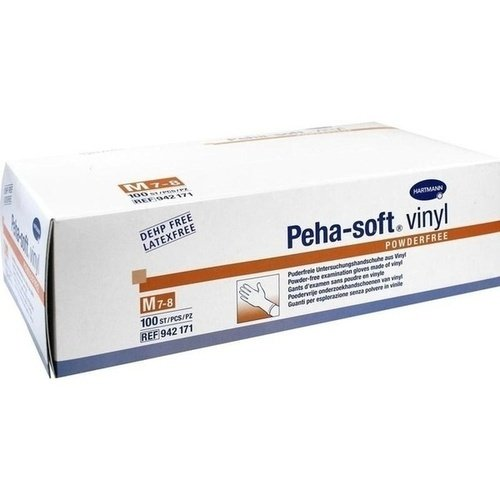 Peha-soft vinyl powderfree unsteril - Gr. Medium - PZN 08909483 - (100 Stück).