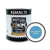 Pintura color Azul Celeste Interior / Exterior / Multisuperfie para azulejos baño cocina , madera, puertas, metal, radiadores, muebles, ceramica / Esmalte sintentico en 375ml