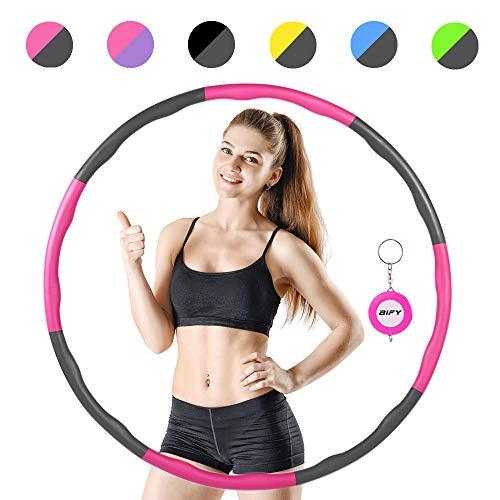 BIFY Hula Hoop Fitness zur Gewichtsreduktion,8 Teile abnehmbar,Gewicht und Größe können angepasst Werden,Wellendesign mit Massagefunktion,Besserer Gewichtsverlust und Fitness,mit Mini Bandmaß