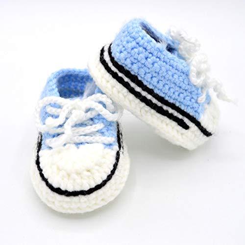 Crochet Baby Sneaker Booties Unisex