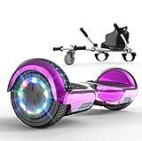 SOUTHERN WOLF Scooter autobilanciato, Hoverboard per Scooter con Altoparlante Bluetooth da 6,5 Pollici, luci LED a Ruota Colorate incorporate, con Sedile per Go-Kart