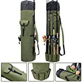 OROOTL Fishing Rod Reel Bag Carrier Organizer, Waterproof Fishing Gear Tackle Travel Backpack Bags with Large Capacity Green Fishing Pole Storage Case Bag