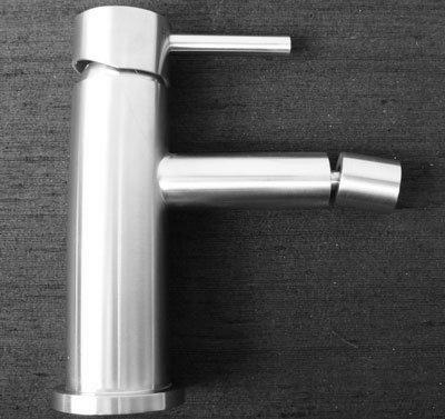 DeLanwa, 602203.0, Acciaio inox miscelatore bidet rubinetto solido spazzolato sfera girevole presa congiunta