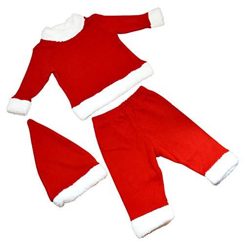 OZYOL Disfraz de Papá Noel para bebé de 3 piezas con gorro, abrigo y pantalón, traje de Navidad para niñas y niños pequeños de 3 a 18 meses rojo 18 meses