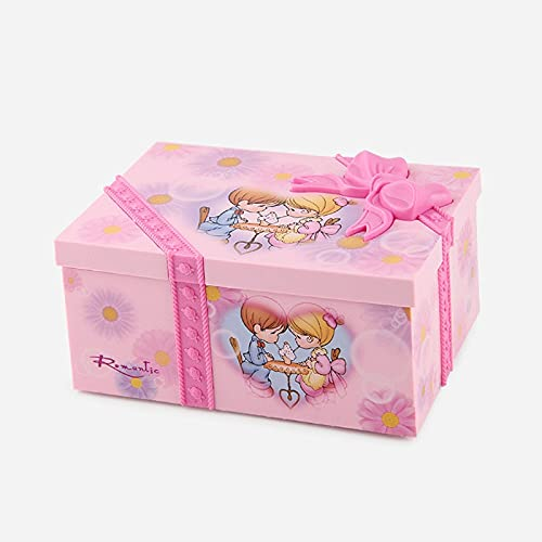 HUIJK Caja de música Ballet Rotating Music Box Bolsa de Regalo Forma Caja de música Caja de joyería Envíe la Novia Regalo Maravilloso Melodía Música Juguete Caja de Regalo Decorar (Color : Pink)