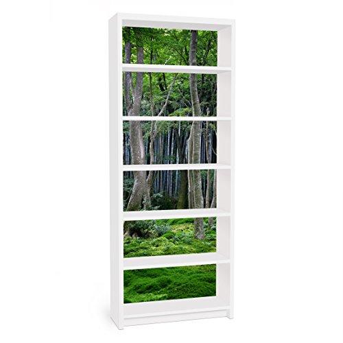 Apalis Vinilo Adhesivo para Muebles IKEA - Billy Bookshelf - Japanese Forest, Größe:2 Mal 94cm x 76cm