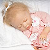 Paradise Galleries Reborn Baby Doll with Magnetic Pacifier, Buttons & Bows, 21 inch Sleeping Girl in Softtouch Vinyl & Weighted Body, 8-Piece Gift Set