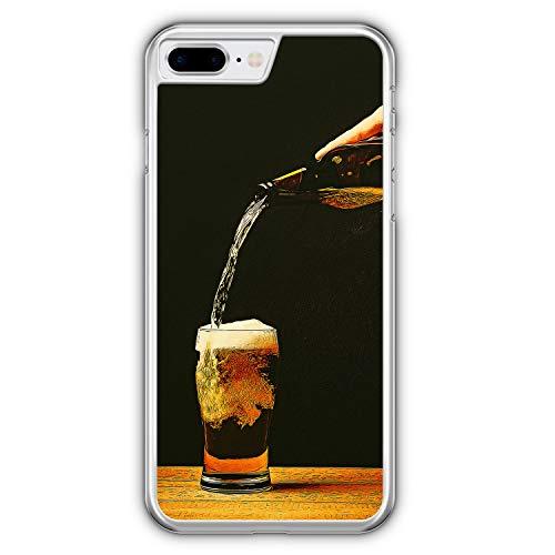 Bierglas Bier - Hülle für iPhone 8 Plus - Motiv Design Jungs Herren Männer - Cover Hardcase Handyhülle Schutzhülle Hülle Schale