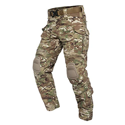 PAVEHAWK PAVEHAWKE G3 Camouflage Tactical Pants with Knee Pads for Men...