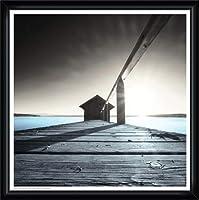 ポスター アーティスト不明 Old Boathouse 額装品 ウッドハイグレードフレーム(ブラック)