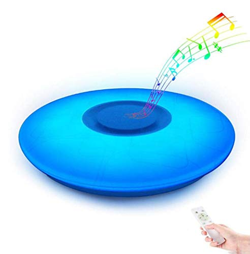 Led-plafondlamp met bluetooth-luidspreker, dimbaar, RGB-kleurverandering, intelligente muziek-plafondlamp, plafondlamp voor kinderkamer, party, woonkamer
