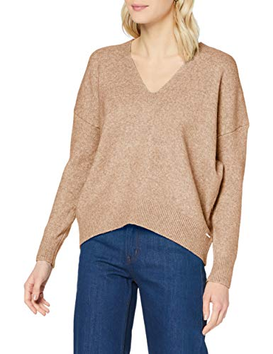 Superdry Womens Isabella Slouch VEE Pullover Sweater, Soft Caramel Marl, XS (Herstellergröße:8)
