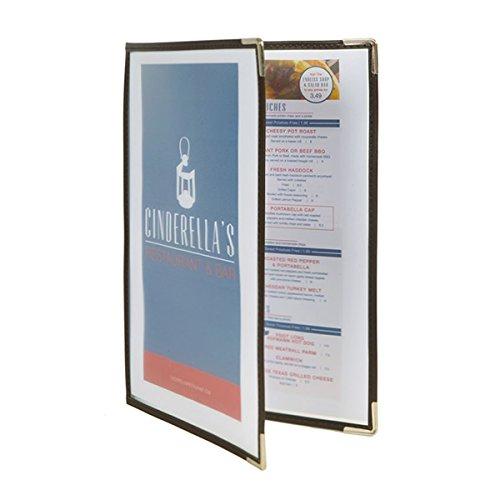 Visiodirect Set de 3 protège-menus A4 Double - 37 x 27 cm