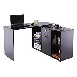 ✅Dual-use desk can be used as corner or flat-wall, as per needs ✅Includes cabinet offering space to store essentials, documents and more ✅Modern minimal design for elegant addition to any home, office, study or living room ✅Constructed with durable M...