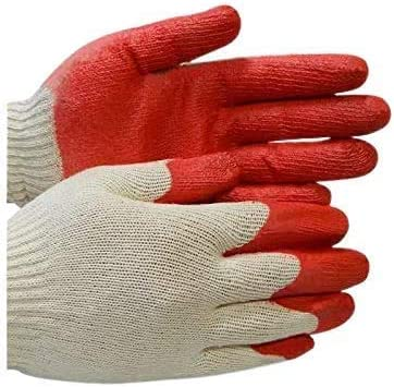 SSL Max 49% OFF ZERED Sale special price Utility Cotton Red Latex Work Palm Coated S Rubber
