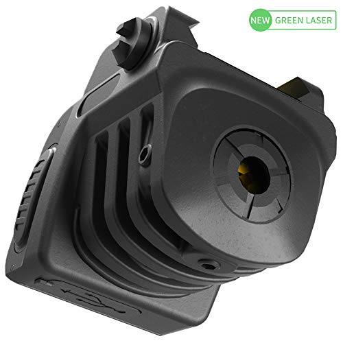 Laspur Advanced Optics Sub Compact Tactical Rail Mount Low Profile Laser Sight, Build-in Rechargeable Battery for Pistol Rifle Handgun Gun (Green)