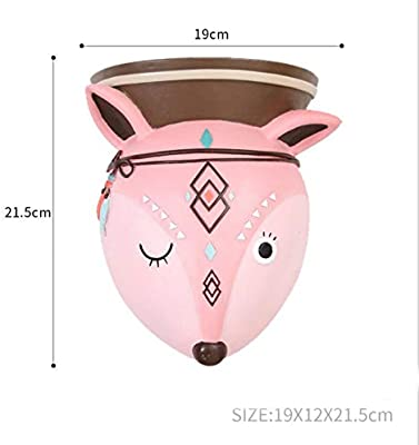 F.yiool Ornaments Cute Animal Flower Wall Resin Vase Home Decorations Creative Design Green Plants Hanging Pot 05294 Deer